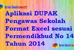 Aplikasi Dupak Pengawas Sekolah Format Excel Sesuai Permendikbud No 143 Tahun 2014 Sekolah Kepala Sekolah Kurikulum