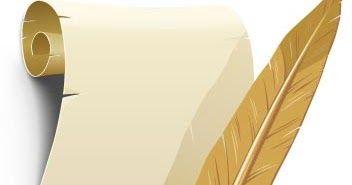 كن داعيا للخير درس تصميم رسالة ورقة بردى مطوية ببرنامج اليستريتور Paper Roll Vector Paper