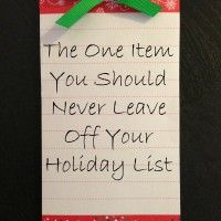 The one item you should never leave off your holiday list. We'll give you a hint: it may or may not have to do with #batteries :)