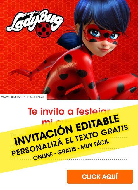 9 Tarjetas De Cumpleaños De Miraculous Ladybug Para
