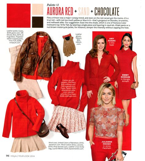 InStyle - Aurora Red + Sand + Chocolate