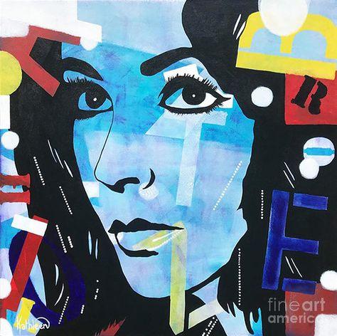Elizabeth Taylor Romance, Pop Art Portrait Acrylic Painting By Kathleen  Artist