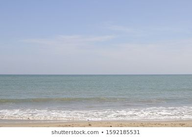 Sea Beach With Blue Sky And Wave Background Beach Beautiful Blue Coast Day Horizon Landscape Nature Ocean Outdoor S In 2020 Beach Waves Sky