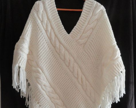 Hand knit poncho