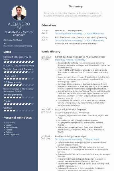 Business Intelligence Developer Resume Luxury Bi Developer Resume Hudsonhs In 2020 Business Intelligence Job Resume Samples Business Intelligence Analyst
