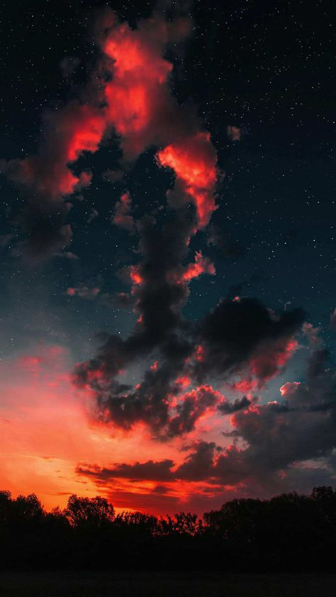 Sunset Clouds Space Stars Iphone Wallpaper Landscape Wallpaper Sunset Wallpaper Sky Aesthetic