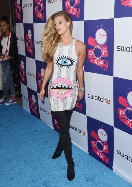 Nina Agdal attends the Swatch: A Night Of POP & Store Opening at Swatch Store Times Square on May 3, 2016 in New York City.