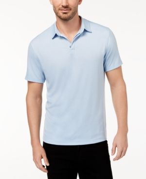 Alfani Mens Soft Touch Rugby Polo Shirt