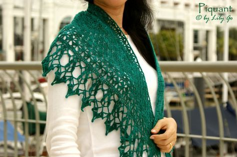 Piquant Crocheted Shawl in PDF File by lprajogo on Etsy