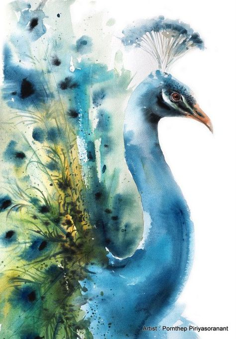 Watercolor of Bird art inspiration & decor A beautiful, modern and affordable way to decorate your place, or make a special unique gift. Print of my original watercolor painting. (The original belong to Artist collection) Print sizes : A4 paper size is 210mm x 297mm, or 8.267