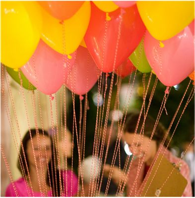 Divine Twine as balloon strings!