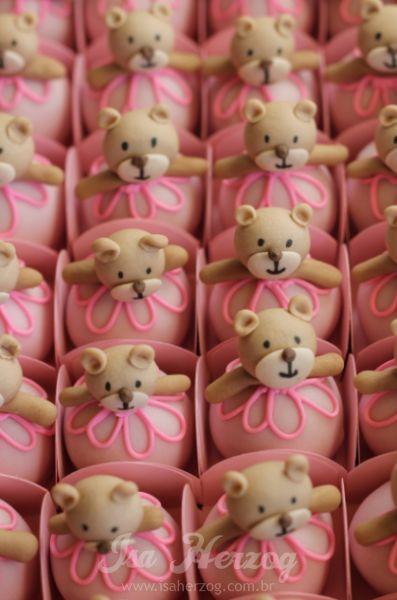 Teddybeertjes cupcakes / teddybear www.hierishetfeest.com