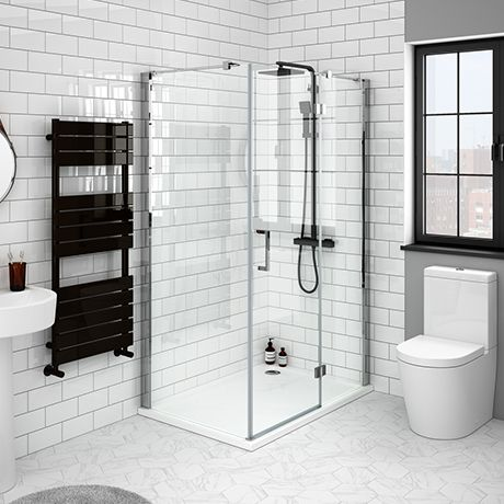 Apollo Frameless Hinged Door Rectangular Enclosure R H Opening Rectangular Shower Enclosures Shower Doors Frameless Hinged Shower Door