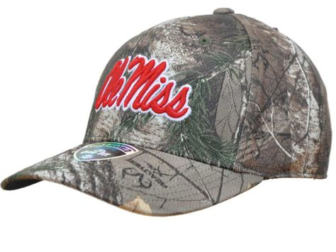 new products great look new high Ole Miss Rebels TOW Camo Realtree Xtra Memory Foam Flexfit Hat Cap ...