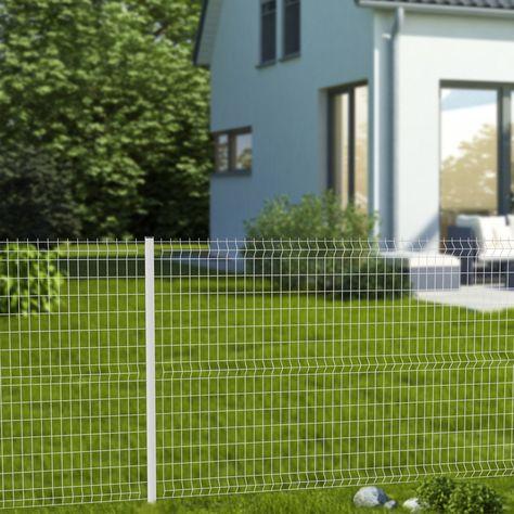 Grillage Panneau Soude Cerista S Blanc H 1 52 X L 2 48m Maille 100x55mm Grillage Rigide Kit Grillage Rigide Et Grillage Blanc