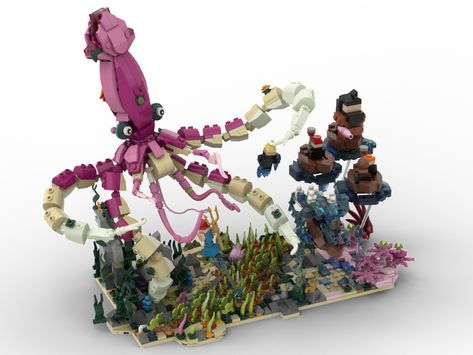 Lego Ideas Magical Builds Of The Wizarding World Creatures The Great Lake S Giant Squid Steampunk Lego Amazing Lego Creations Lego Art
