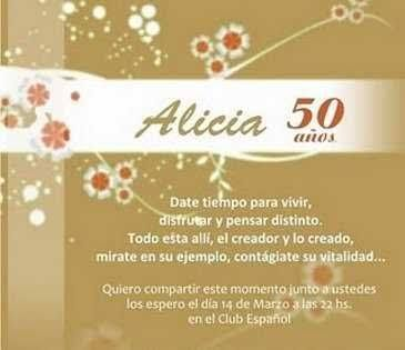 Cumpleanos 50 Anos Mujer Frases