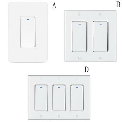Details About 1 2 3 Gang Wifi Smart Switch Wall Light Modern Panel For Alexa Goog Rsg5 In 2020 Wall Light With Switch Smart Switches Modern Lighting