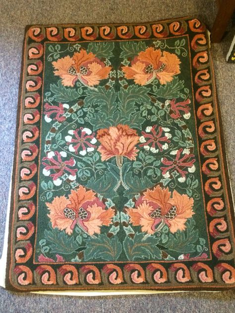 William Morris Hooked By Marian Hall Rug