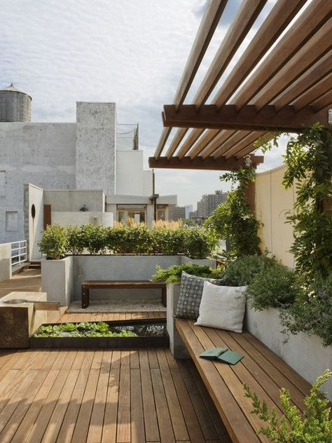 Rooftop Pergola Design Pictures Remodel Decor And Ideas