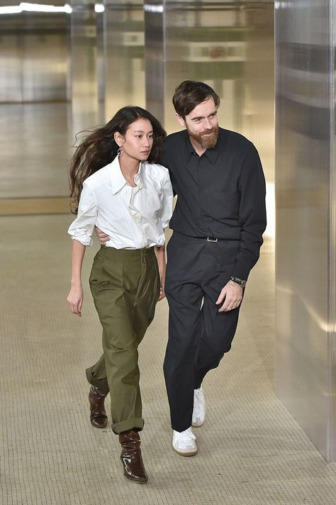 Christophe Lemaire & Sarah-Linh Tran at Lemaire Fall 2017 Ready-to-Wear collection