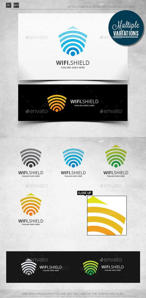 Wifi Shield - Logo Template