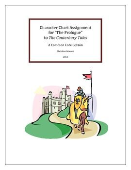 Character Chart Ignment The Prologue To Canterbury Tales