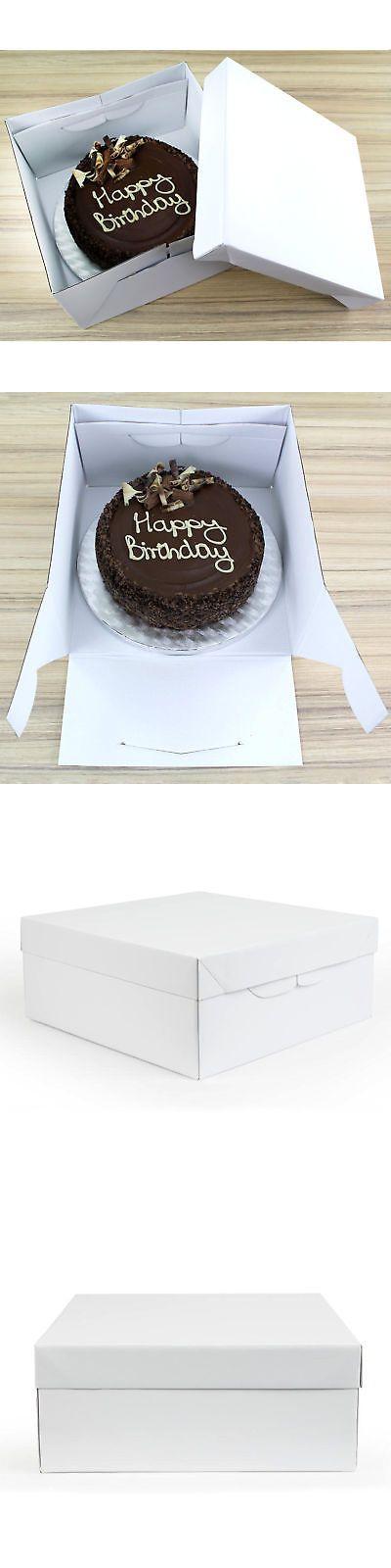 1 Count PME Sugarcraft Cake Box White 10 x 10 x 5-5//8 Inches