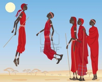 Massai traditional dance called Adumu.
