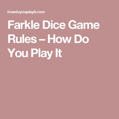 photograph about Farkle Rules Printable known as Totally free Obtain The Activity Farkle Legal guidelines Strategies And Attributes