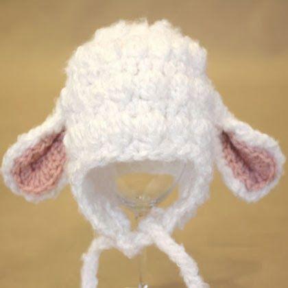FOR YOUR PRECIOUS LITTLE LAMB! ADORABLE Crochet Lamb Hat FREE PDF Pattern Download!