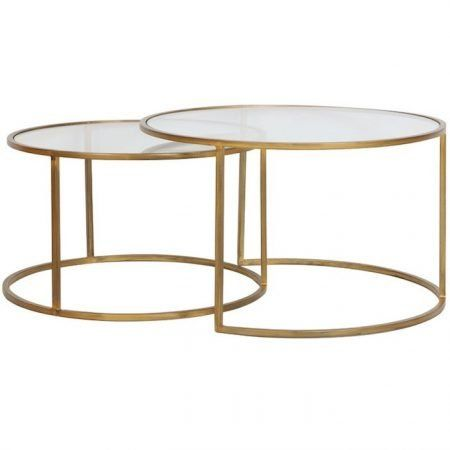 Couchtisch Light Living Duarte Gold Glas 2er Set Rund Gutraum8 Round Glass Coffee Table Gold Coffee Table Coffee Table