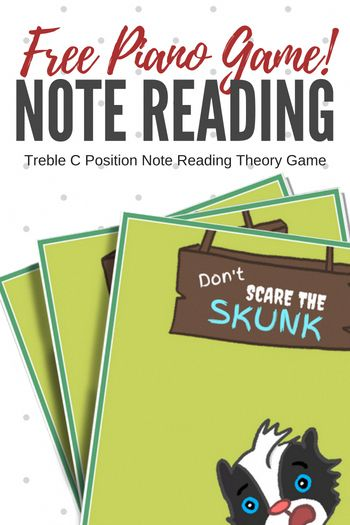 Free note reading game to reinforce Treble C note reading #PianoGame #PianoLessons #PianoTeaching #NoteReading