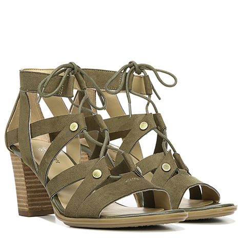 Naturalizer LoNatundon Strappy Sandal Moss Green 11 W Moss