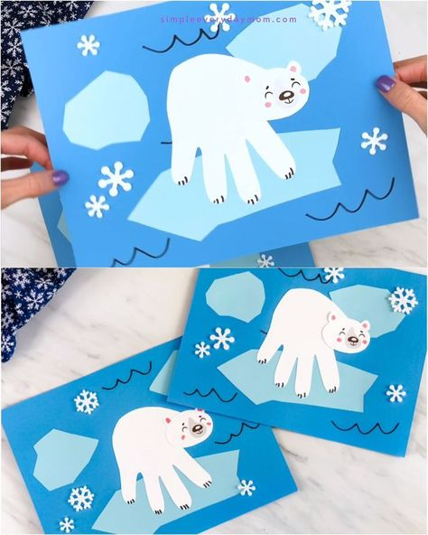 Photo of Polar Bear Handprint Craft