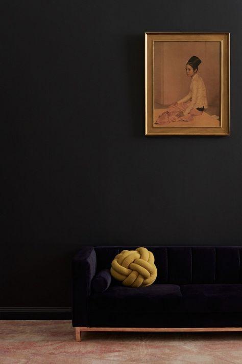 Incy Interiors navy velvet Hugo kids sofa