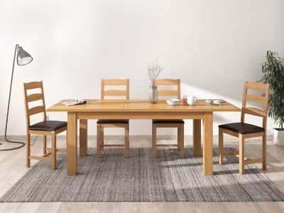 Brackley Extending Dining Table 4 Chairs Dining Extendable