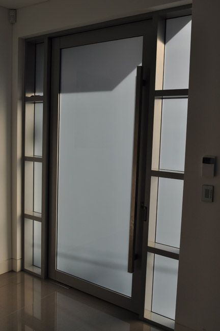 Aluminium entrance door to unit block - completed by the team at ...