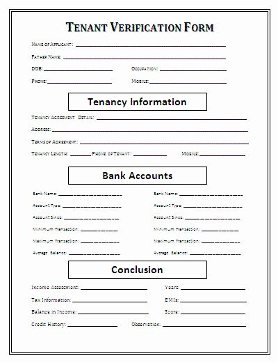 Tenant Information Sheet Template Unique Rental Verification Form Employment Form Being A Landlord Real Estate Forms