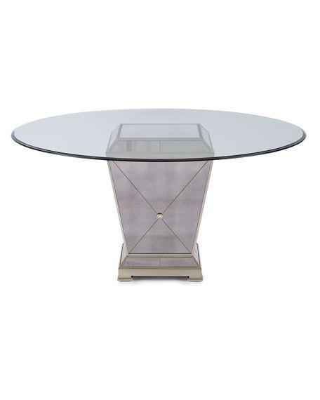Massoud Milo Mirrored Dining Table Gwyneth Dining Chair Dining