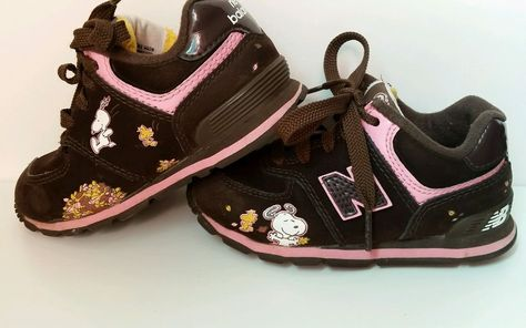 9501fe2cf8 Girls New Balance 574 Tennis Shoes Size 8 Toddler Peanuts Snoopy Brown  Althetic  NewBalance  Athletic