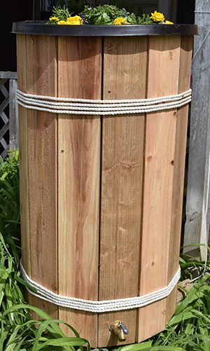 Outdoor Home Maintenance: Rain Barrel Disguise DIY Project