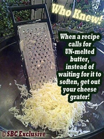Softened #butter. Great idea!