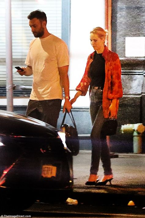 New beau: On Monday night, Jennifer Lawrence and boyfriend Cooke Maroney, 33, stepped out for a double date in NYC