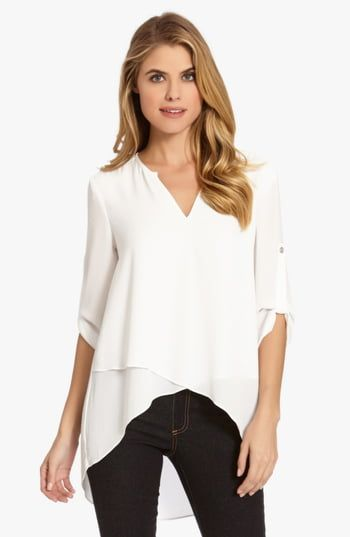 New Karen Kane Asymmetrical Wrap Hem Top. Best Seller Womens fashion clothing