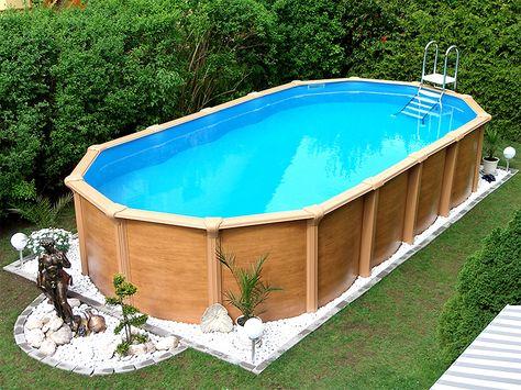 Elegant F r einen harmonisch l ndlichen Flair Ein gro er Swimmingpool im Garten einfach aufgebaut und ab ins k hle Nass pool schwimmbecken garten ho u
