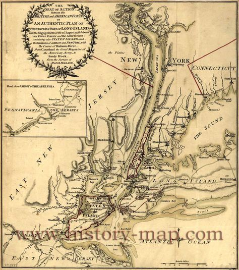 Battle of Long Island | Long Island Battle Map | social ... on