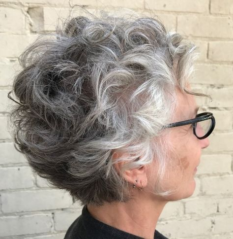 Curly Gray Hairstyle For Older Women Short Curly Hairstyles For Women Curly Hair Styles Naturally Hair Styles