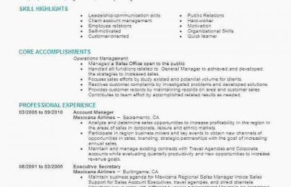 Resume For Service Industry And Fresh Service Industry Resume