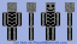 TransParent Skeleton Minecraft Skin | The Forever Bookmark
